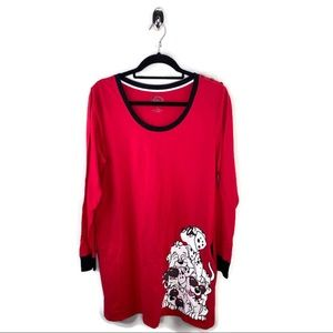 Disney Dalmatian Red Dress Size L